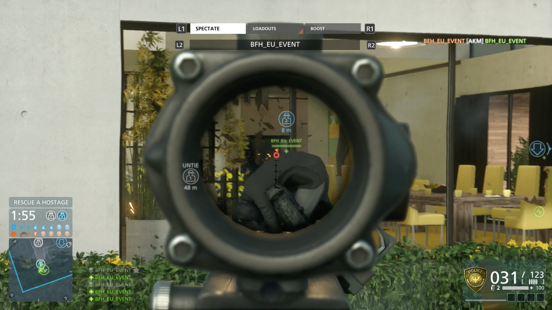 Battlefield Hardline im Test: Guter Shooter mit Charakterschwäche - Wir nehmen unsere Gegner mit dem Zielfernrohr unter Beschuss.