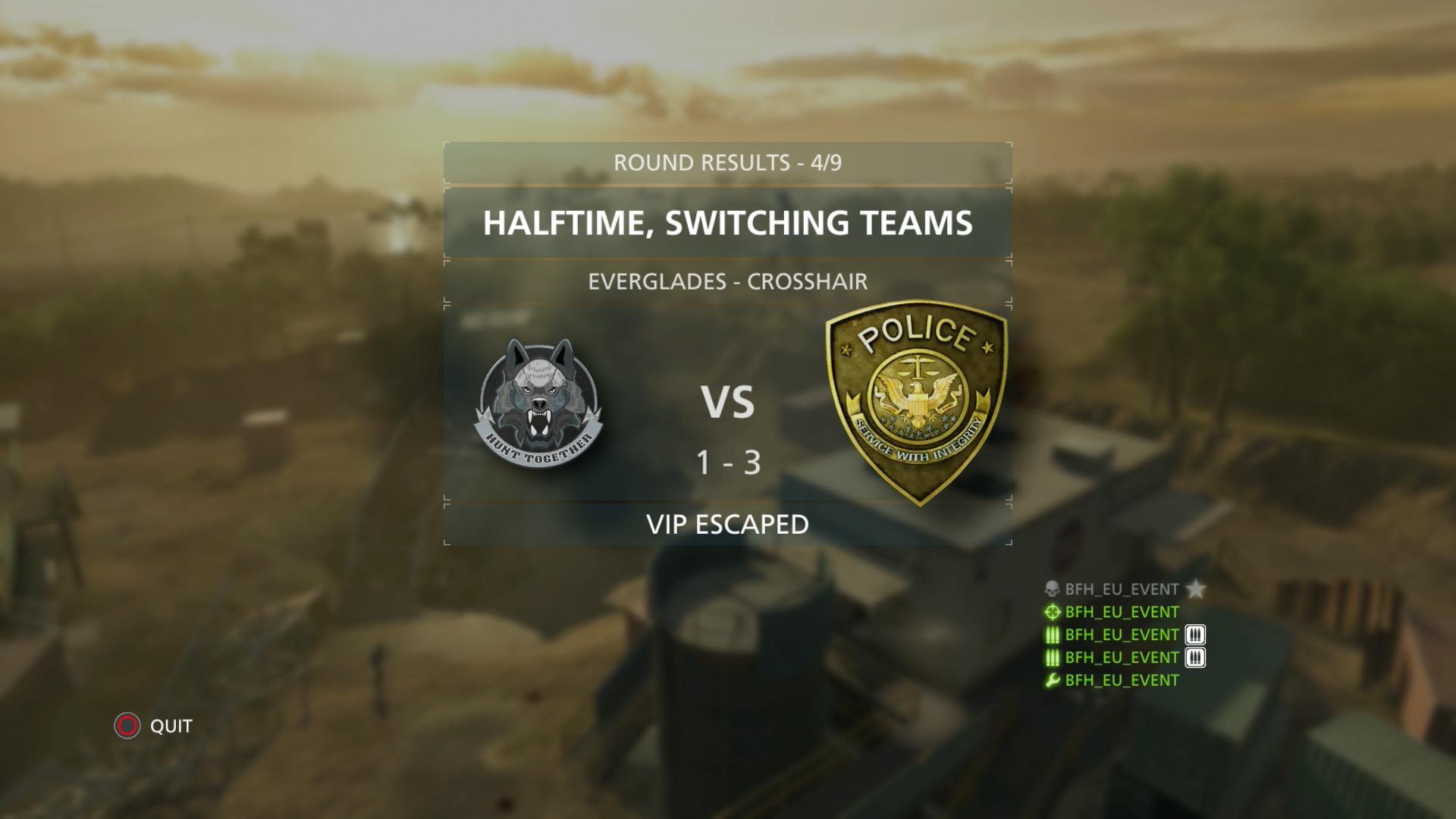 Battlefield Hardline im Test: Guter Shooter mit Charakterschwäche - Bei den Modi Crosshair und VIP gibt es einen Seitenwechsel.