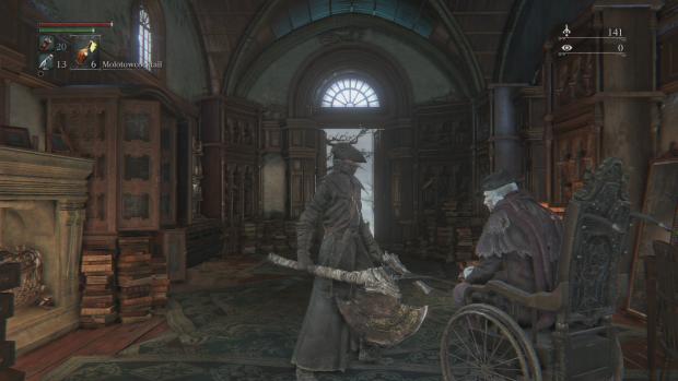 Im Gebäude des zentralen Levels können wir unter anderem unsere Waffen reparieren. (Screenshot: Golem.de)