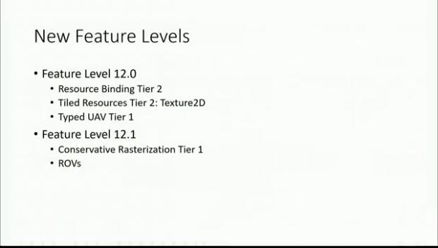 Unterteilung der Feature Levels für D3D12 (Bild: Microsoft)
