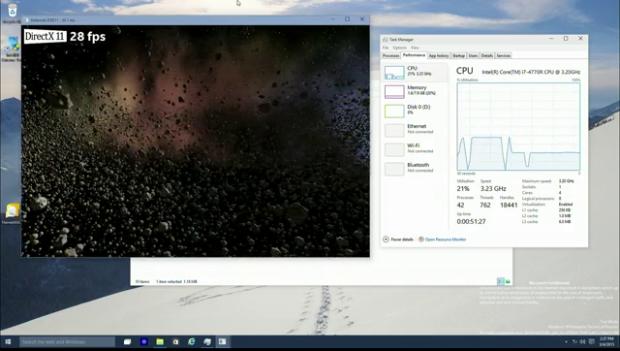 Intel Asteroids mit D3D11 (Bild: Microsoft)