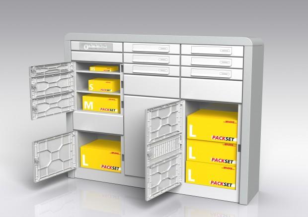 DHL-Paketkasten für Mehrfamilienhäuser (Bild: DHL)