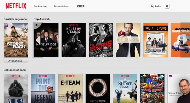 Netflix vor der God-Mode-Aktivierung (Screenshot: Golem.de)