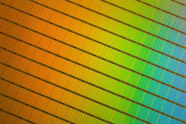 Wafer mit 3D-NAND-Dies (Bild: Intel und Micron)