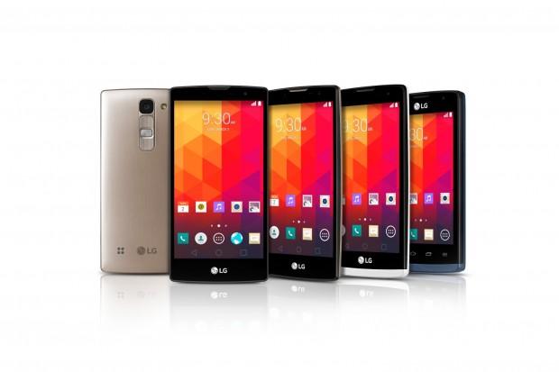Die neuen Einsteiger- und Mittelklasse-Smartphones von LG: Joy, Leon, Spirit und Magna (Bild: LG)