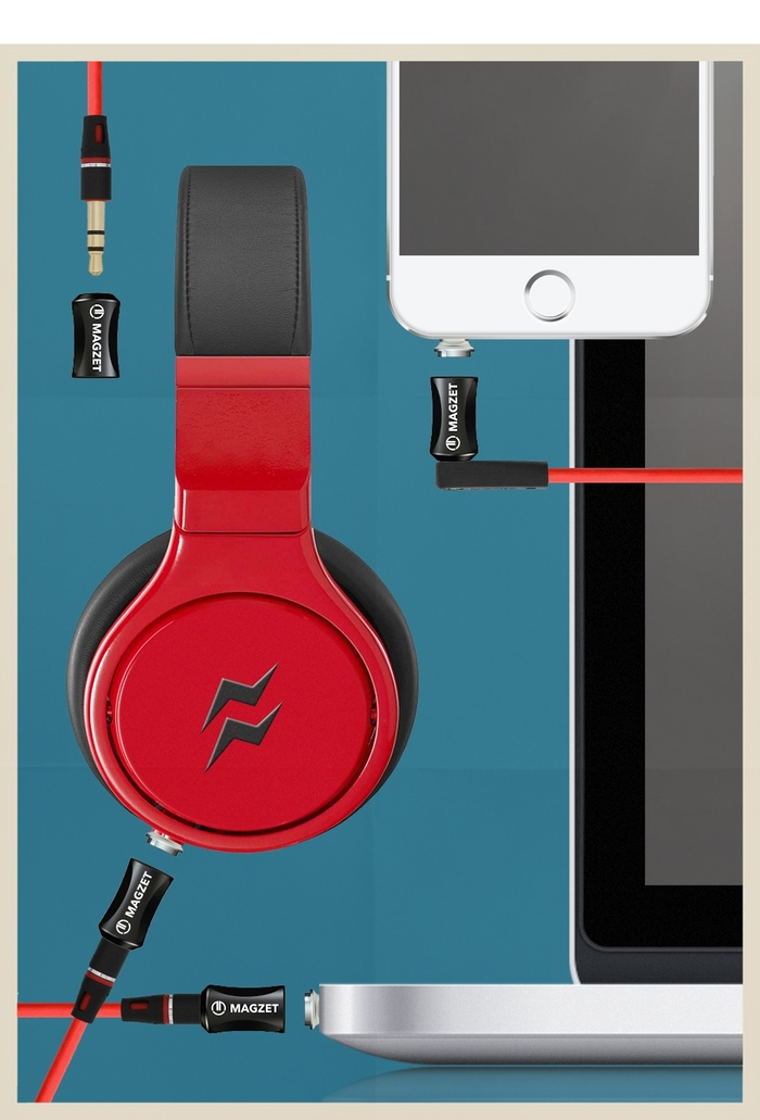 Kickstarter: Magzet soll Magsafe für Kopfhörer sein - Magzet (Bild: Kickstarter)