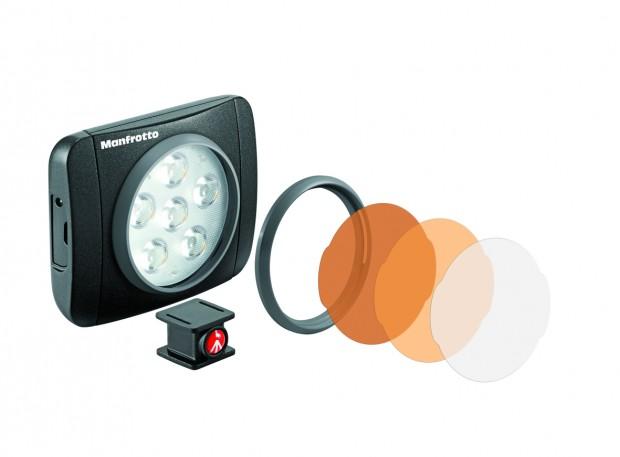 Manfrotto Lumie mit abnehmbaren Filtern (Bild: Manfrotto)