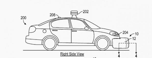 Außen-Airbags - Patentantrag 8,985,652 (Bild: USPTO)