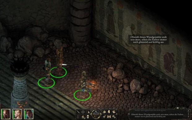 Details wie die Wandmalereien können wir per Zoom genau angucken. (Screenshot: Golem.de)