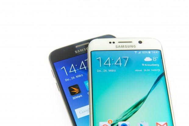 Das Galaxy S6 Edge im Vergleich zum Galaxy S6 (Bild: Martin Wolf/Golem.de)