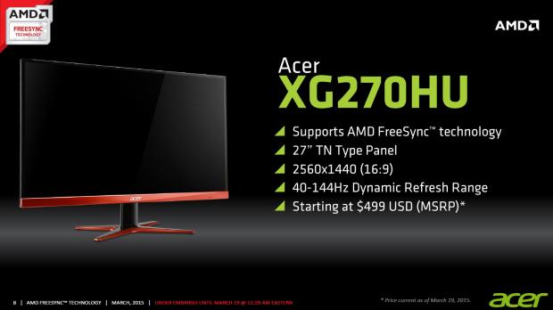 Acer XG270HU (Bild: AMD)