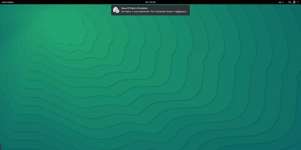 Die dezenten neue Benachrichtigungen in Gnome 3.16 (Screenshot: Sebastian Grüner/Golem.de)