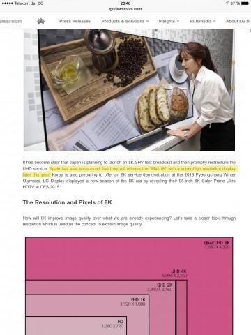 Screenshot von LGs Meldung eines 8K-iMacs (Screenshot: Golem.de)