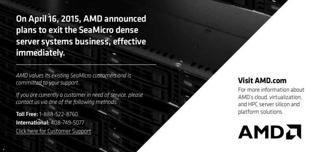 AMD hat sich von Seamicro getrennt (Screenshot: Golem.de)