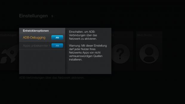 sideloading apps auf dem fire tv stick fire tv stick im. Black Bedroom Furniture Sets. Home Design Ideas