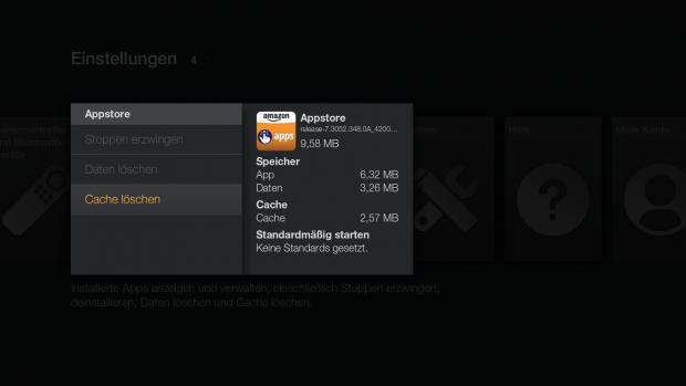 An dieser Stelle kann der Cache der Appstore-App gelöscht werden. (Screenshot: Golem.de)