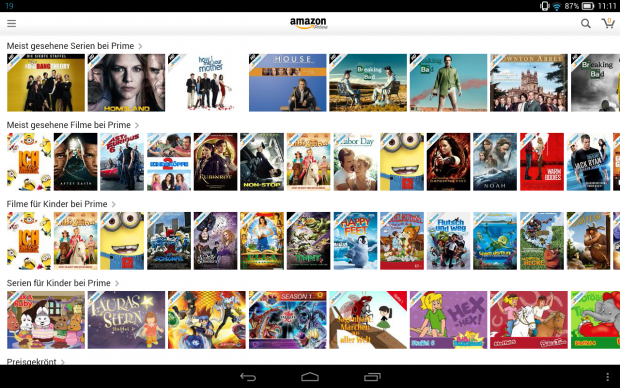 Amazon prime video app android tablet
