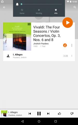 Android 5.1 - Änderung der Hauptlautstärke, während Musik läuft (Screenshot: Golem.de)