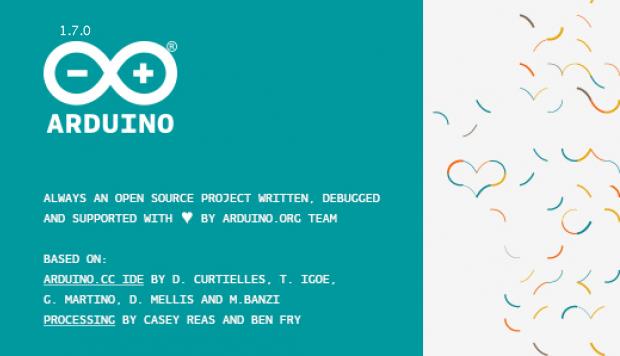 Das Info-Fenster des Arduino.org-Forks 1.7 der IDE (Bild: Alexander Merz)