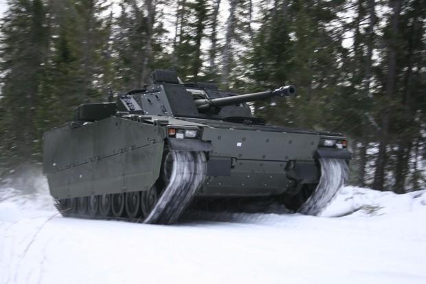 BAE Systems CV90 mit aktiver Radaufhängung (Bild: BAE)