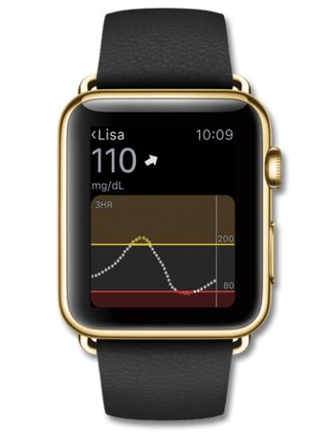 Diabetes-Meldungen auf der Smartwatch (Bild: Dexcom)