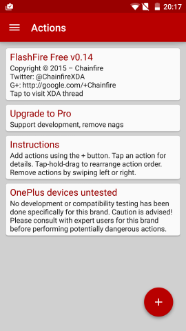 Flashfire auf einem Oneplus One (Screenshot: Golem.de)