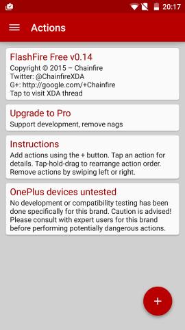 Flashfire auf einem Oneplus One (Screenshot: Golem.de)