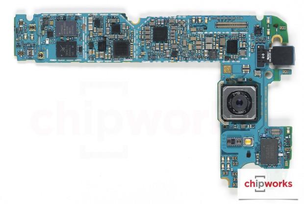 Vorderseite der Hauptplatine des Galaxy S6 (Bild: Chipworks)