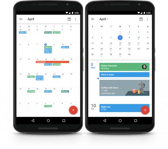 In der neuen Version des Google-Kalenders können Nutzer wieder die Monatsansicht nutzen. (Bild: Google)
