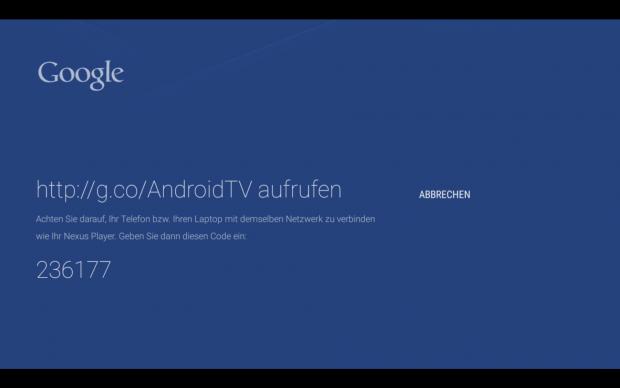 Zur Verbindung mit dem Google-Konto muss nur ein Zahlencode auf der Google-Webseite am Smartphone, Tablet oder Computer eingetippt werden. (Screenshot: Golem.de)