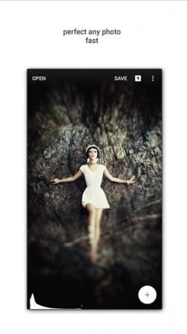 Snapseed 2.0 auf dem iPhone (Bild: Google)