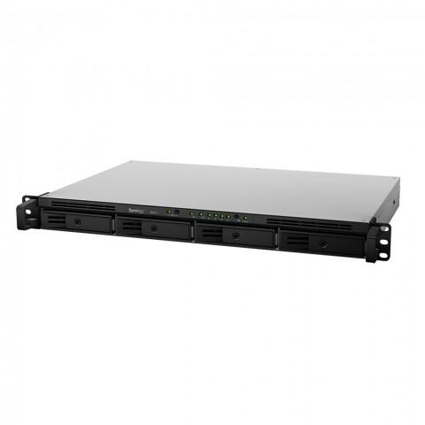 Synologys Rackstation RS815 bietet vier Festplatteneinschübe... (Bild: Synology)