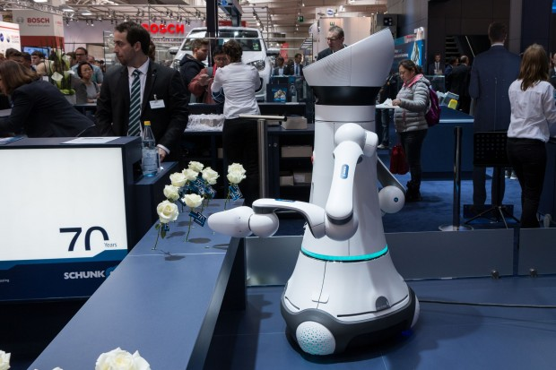 Der Care-O-bot 4 auf der Hannover Messe 2015 (Foto: Werner Pluta/Golem.de)