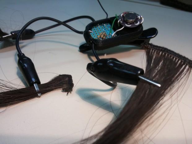 Hairware-Prototyp (Foto: Katia Vega)