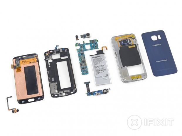 Samsung Galaxy S6 Edge in Einzelteilen (Bild: iFixit)
