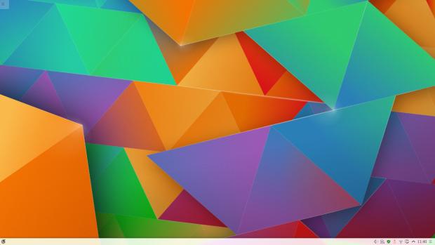 Die Standardkonfiguration von KDE Plasma 5.3 (Bild: Screenshot Golem.de)