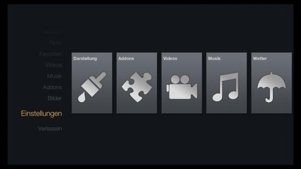 FTV Skin für Kodi - Einstellungen (Screenshot: Golem.de)