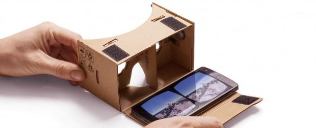 Googles VR-Pappbetrachter Cardboard (Bild: Google)