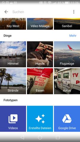 Die neue Suchfunktion arbeitet mit einer recht zuverlässigen automatischen Erkennung. (Screenshot: Golem.de)