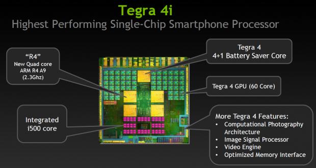 Tegra 4i mit Icera i500 (Bild: Nvidia)