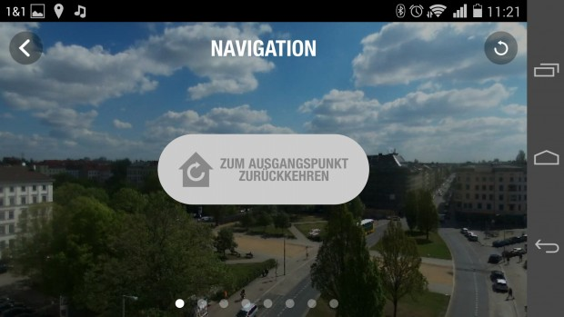 "Die Funktion ""Zum Ausgangspunkt zurückkehren"" versteckt sich im Optionsmenü. (Screenshot: Golem.de)"