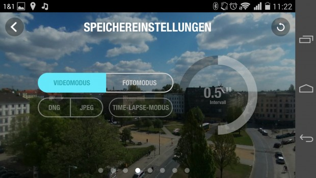 Auch im Fotomodus können Videos aufgezeichnet werden. (Screenshot: Golem.de)