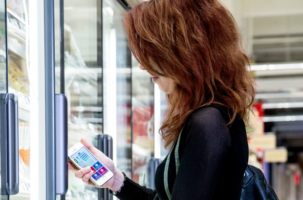 Philips LED-Indoor-Navigation im Supermarkt (Bild: Philips)