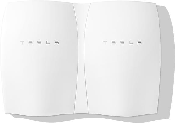 Tesla Powerwall in Doppelinstallation (Bild: Tesla)