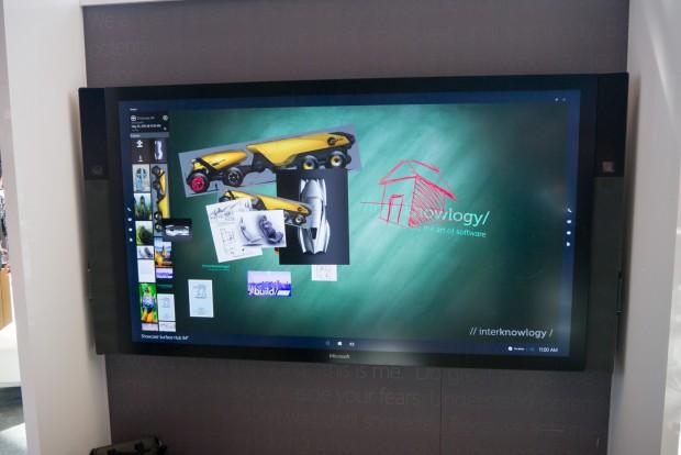 Surface Hub gibt es mit 85-Zoll- ... (Foto: Andreas Sebayang/Golem.de)