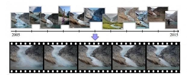 Aus Tausenden Fotos mit verschiedenen Perspektiven errechnet der neue Algorithmus Zeitraffervideos. (Bild: Martin-Brualla/Gallup/Seitz)