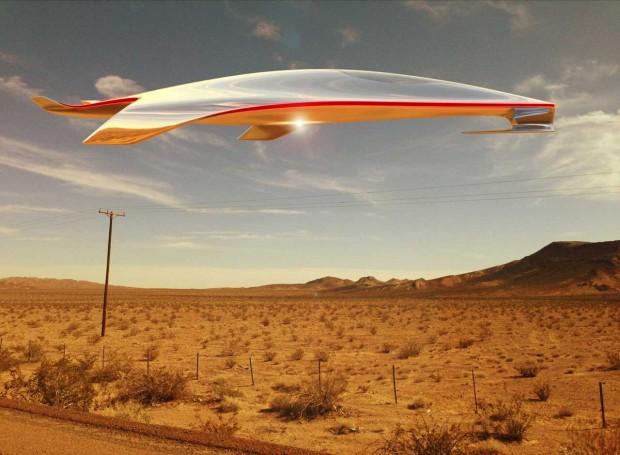 Nur ein roter Streifen verrät die Herkunft: Ferrari-Chefdesigner Flavio Manzoni hat ein Ufo entworfen. (Bild: Flavio Manzoni, Guillaume Vasseu, Guglielmo Galliano)