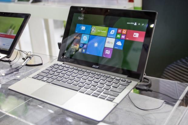 Acer hat auf der Elektronikmesse Computex die neue Version des Windows-Convertibles Switch 11 gezeigt. (Bild: Tobias Költzsch/Golem.de)