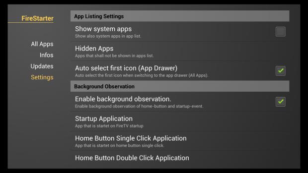 Fire Starter lässt sich sehr umfangreich konfigurieren. (Screenshot: Golem.de)