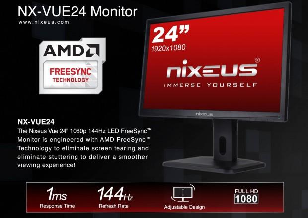 Der NX-VUE24 bietet 30 bis 144 Hz. (Bild: Nixeus)
